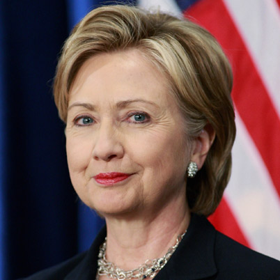Former Senator Hillary Clinton